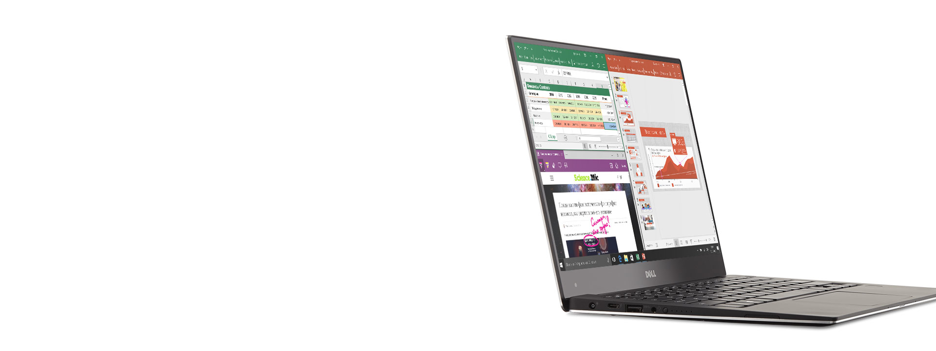 Surface Pro 4 с Office на экране
