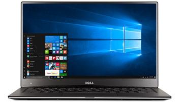 Ноутбук с начальным экраном Windows