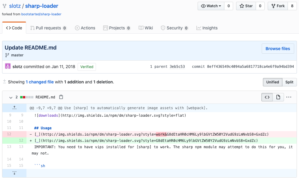 An image of a GitHub repository controlled by GADOLINIUM.