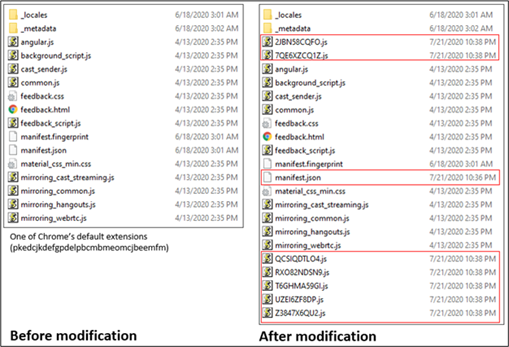 Screenshot of File Explorer showing added JavaScript and JSON files