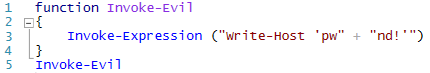 An example of a dynamic script.