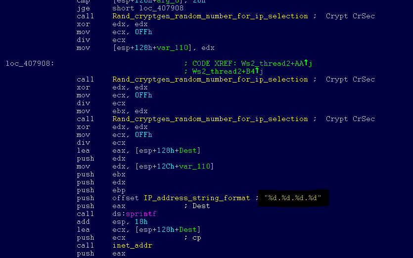 Tthe malware runs kernel-level shellcode that seems to have been copied from the public backdoor known as DOUBLEPULSAR.