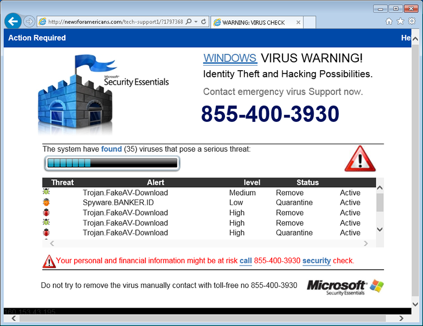 Spoof security products and list malware.