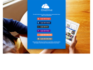 Sample HTML files that pose as cloud storage sign in pages.