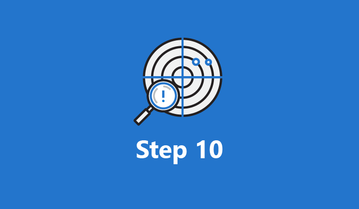 Image which reads Step 10.