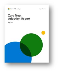 Zero Trust Adoption Report cover image with three overlapping colored circles.