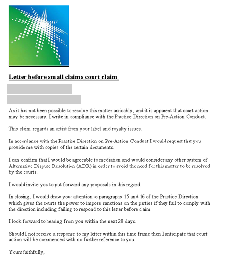 Screenshot of another email lure used in the campaigns