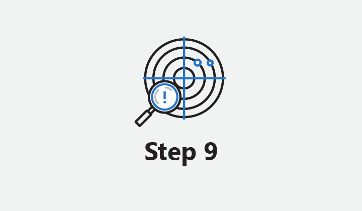 "Image which reads ""Step 9."""