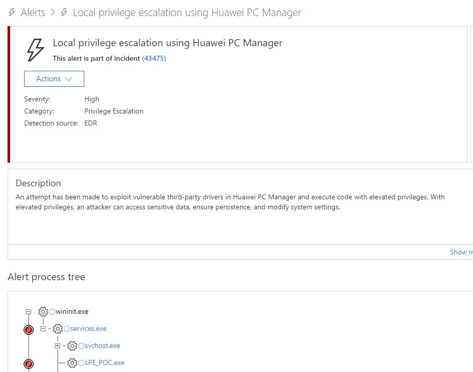 From alert to driver vulnerability: Microsoft Defender ATP