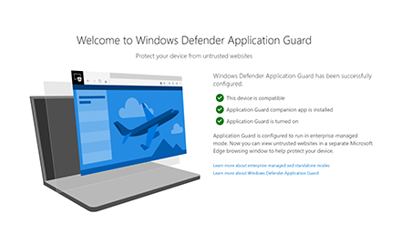 Welcome to the Windows Defender Applications Extension.