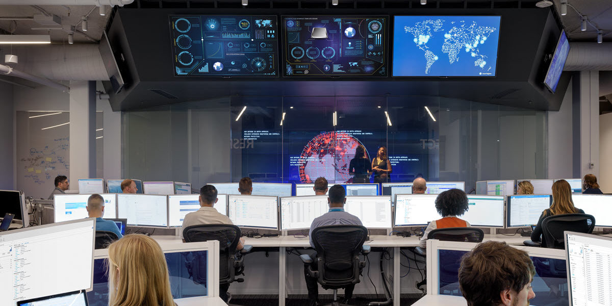 Image of tech workers in their office.