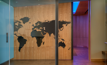 Image of an entrance in the Detection and Response Center.