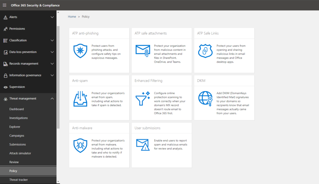 An image of : Microsoft Threat Protection and Office 365 ATP provide several capabilities to help you protect your organization from phishing attacks.