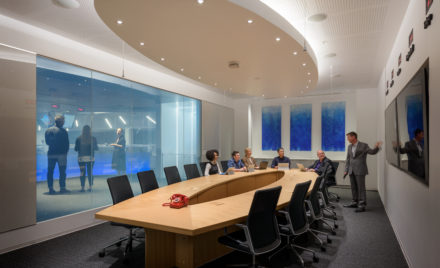 Comference room in the Microsoft Cyber Defense Operations Center