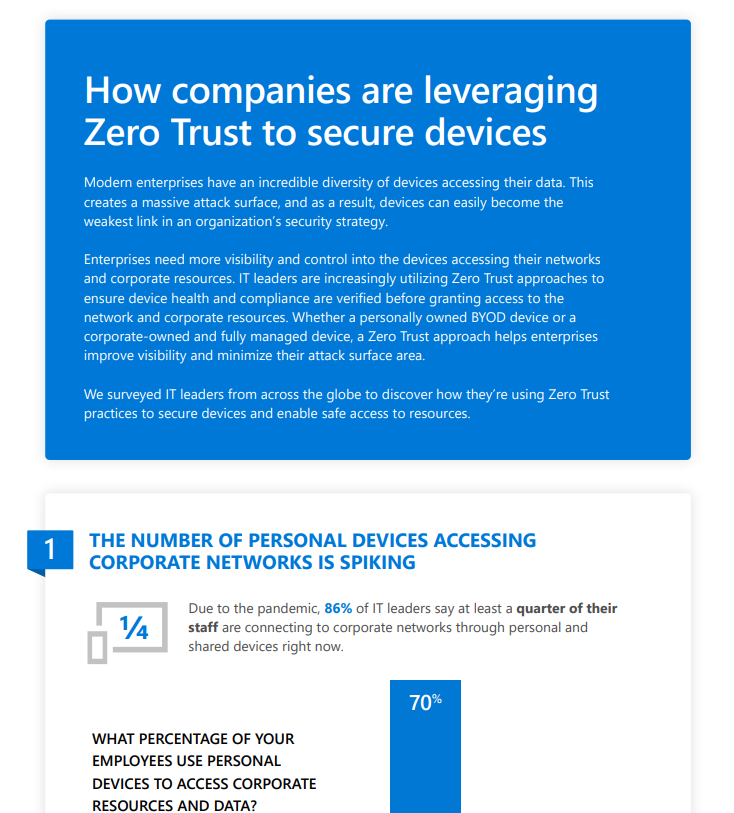 A clickable link to the full PDF infographic to the Zero Trust whitepaper