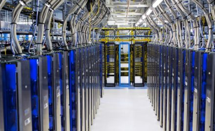IT professionals build and maintain server farm.