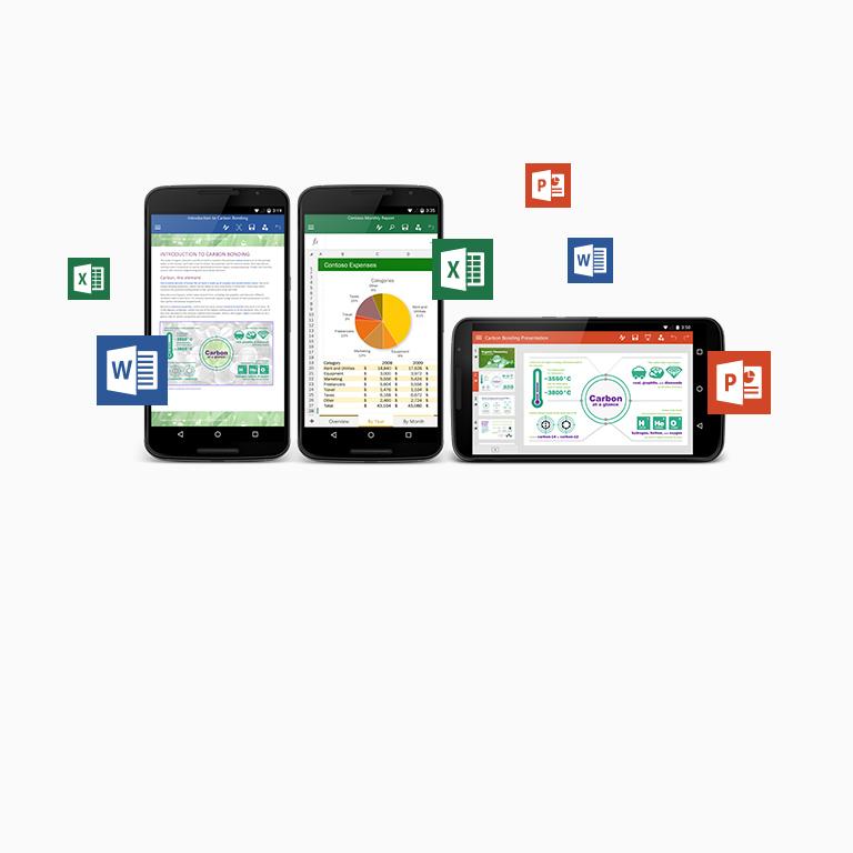 Získajte informácie o bezplatných aplikáciách balíka Office pre telefón a tablet sAndroidom.