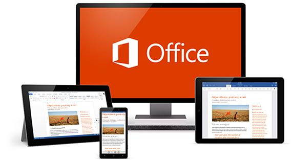 Office vrôznych zariadeniach
