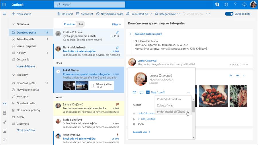 Outlook.com bude mať už čoskoro nové funkcie Pošty b44f114030b
