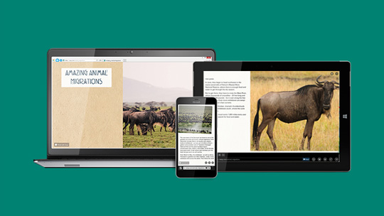 V spletu lahko s programom Sway preprosto uresničite svoje zamisli.