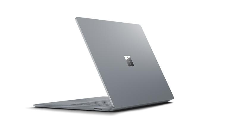 Vy bakifrån av Surface Laptop i platinum