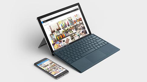 Synkronisera din telefon med alla Surface-enheter.