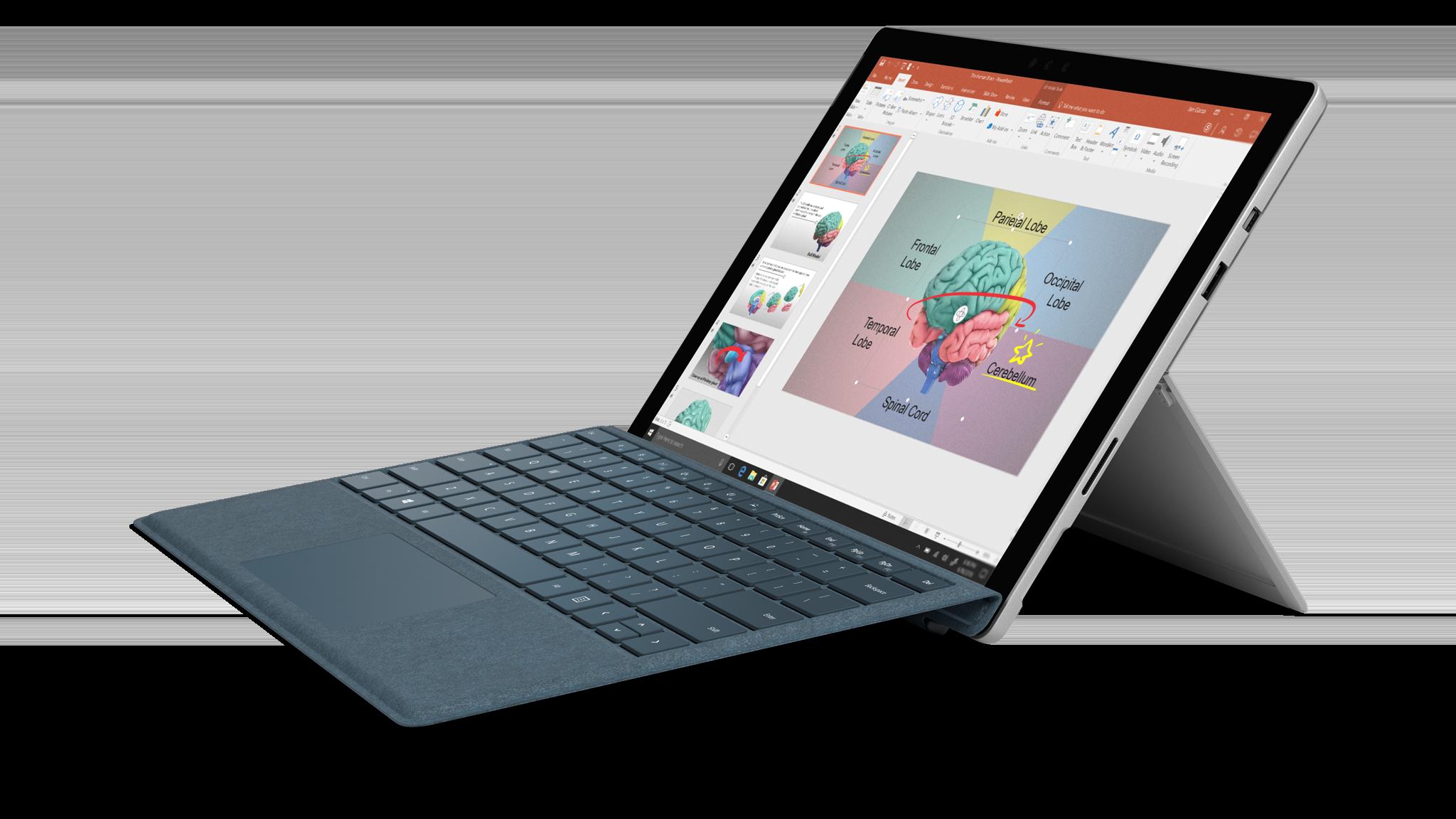 Bild av sidan på Surface Pro