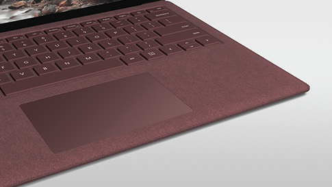 Surface Keyboard med Alcantara-material.
