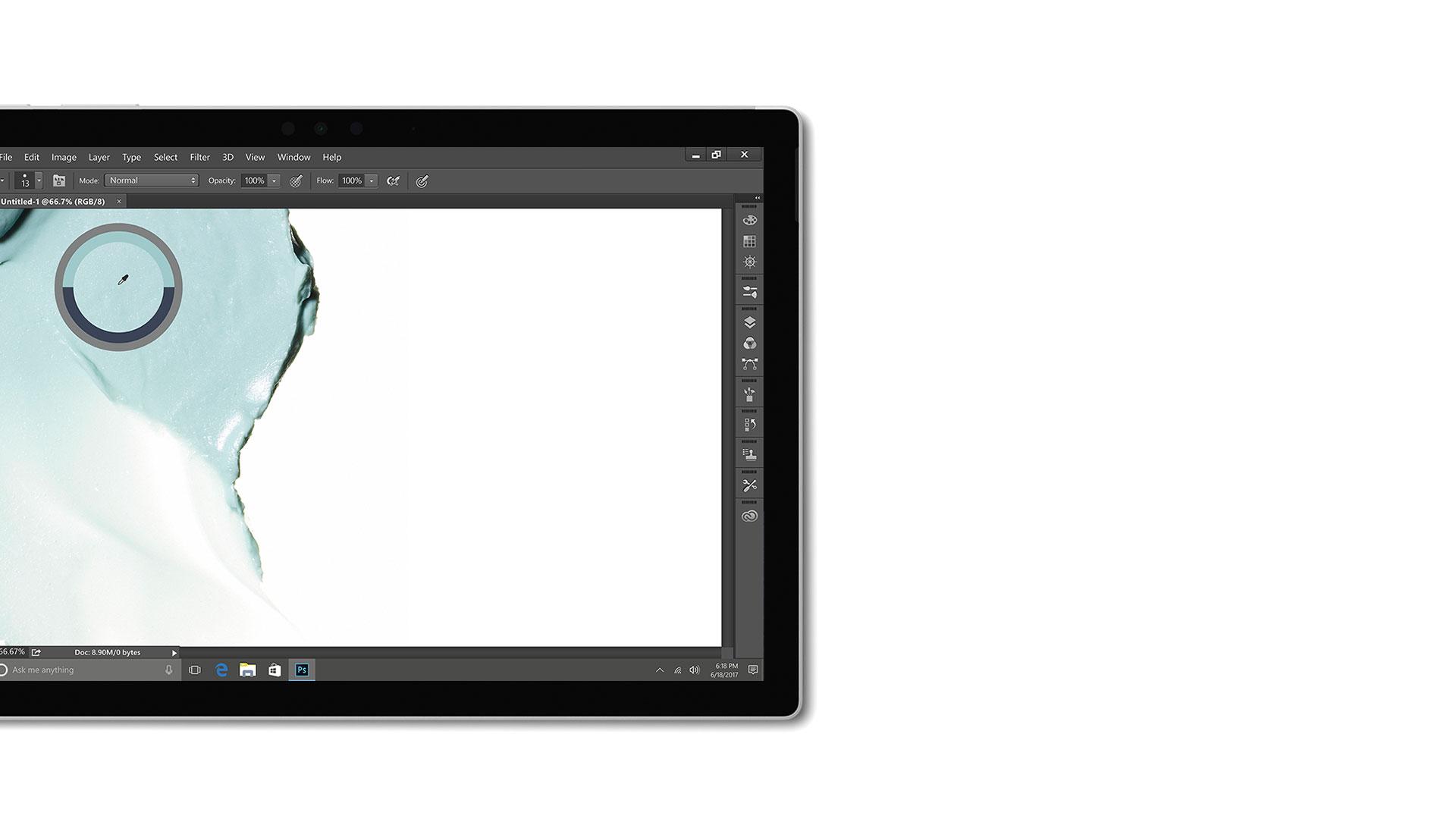 Bild på användargränssnitt i Adobe Creative Cloud