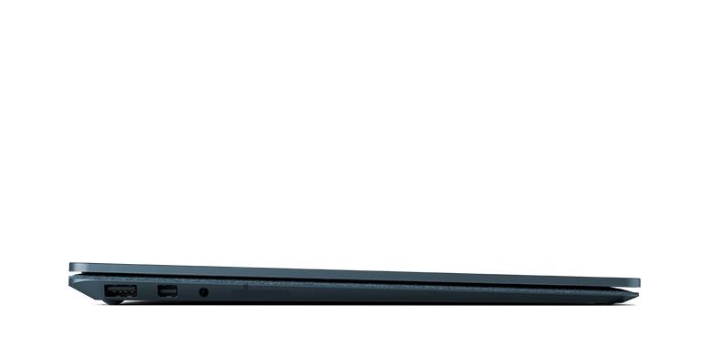 Vy från sidan av Surface Laptop i koboltblått