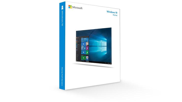 Windows 10 Home sürümleri için ürün paketlemesi