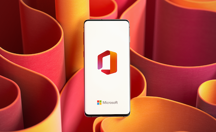 Office icon on a smartphone