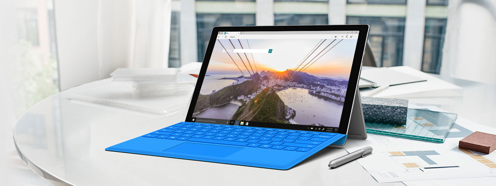 Microsoft Edge hiển thị màn hình tìm kiếm Bing