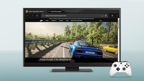 某 Xbox 游戏中汽车沿路行驶的图像