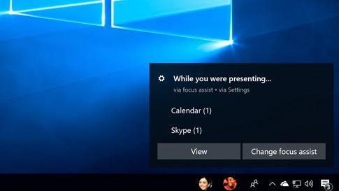 """全新的""""专注助手""""窗口显示功能设置以及在你专注时查看最近活动的选项"""