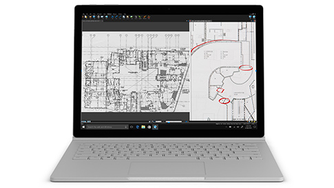 配备 13.5 英寸 PixelSense™ 显示屏以及智能英特尔® 酷睿™ i5-7300U 处理器的 Surface Book 2 i5 13.5 英寸版本