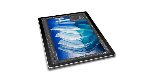 处于剪贴板模式的 Surface Book 的图像。