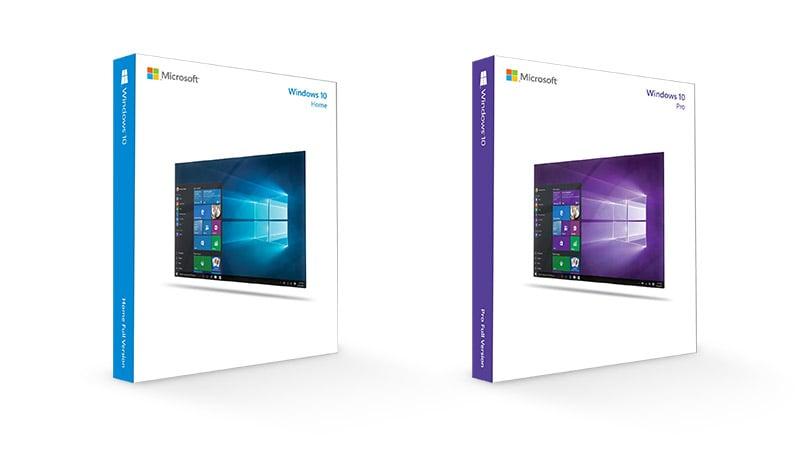 Windows 10 家庭版和专业版